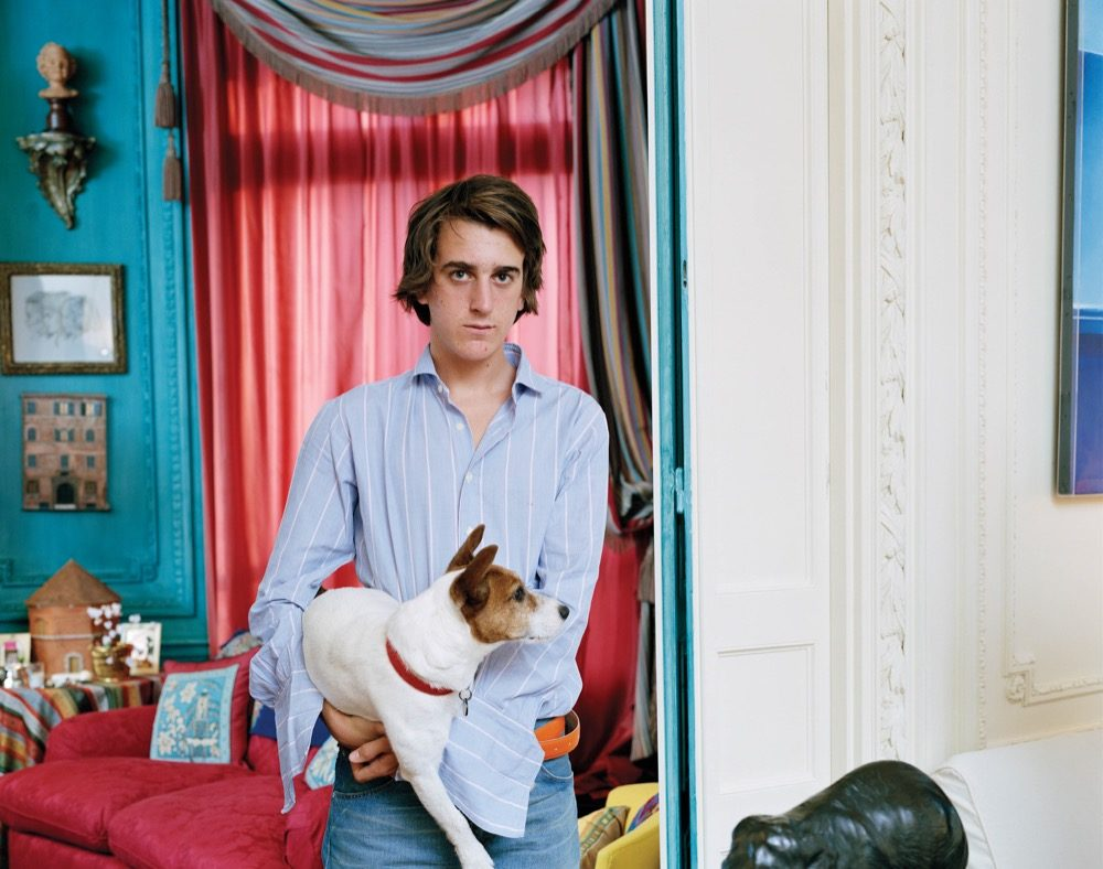 Tina Barney, Young Man with Dog, 2003