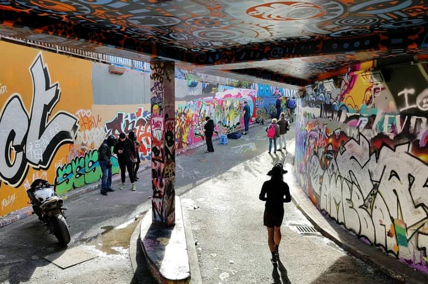 Londyn, Leake Street (Banksy Tunnel)