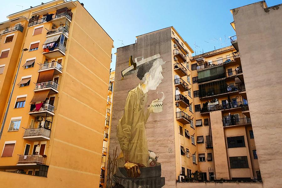 Cofee Break mural Etam Cru Rzym Rome