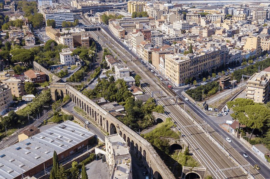 Rzym Pigneto z lotu ptaka, fot. Stefano Tammaro