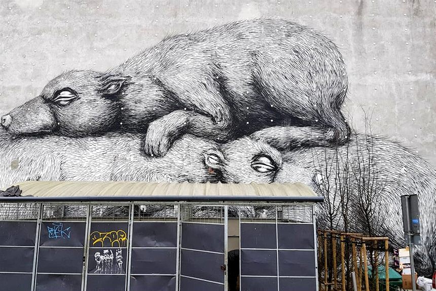 Mural Warszawa, ul.Nowy Świat 22/28, Roa