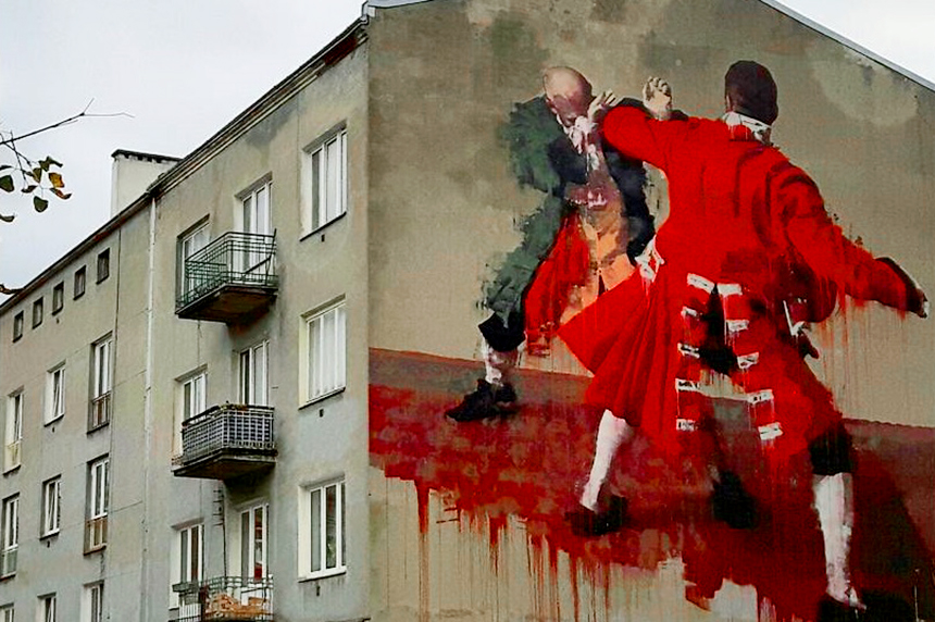 Mural Warszawa, ul.Środkowa 17, Conor Harrington