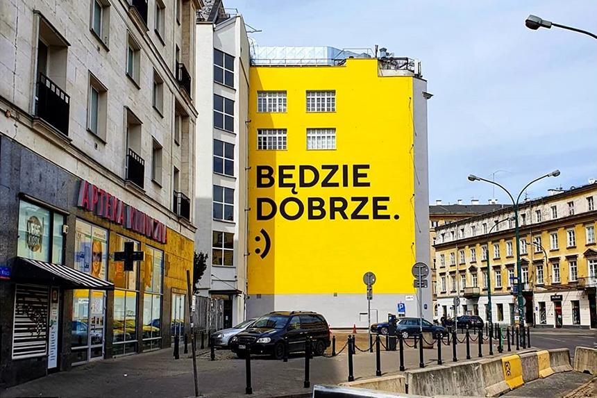 Warszawa, Good Looking Studio, mural Będzie dobrze