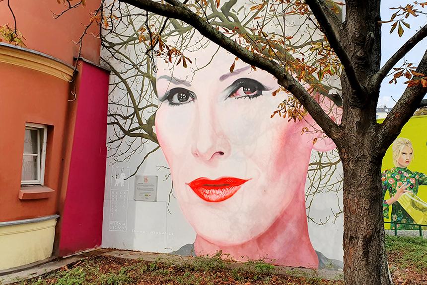 Mural Warszawa, ul. Nowy Świat 18/20, Bruno Althamer Kora