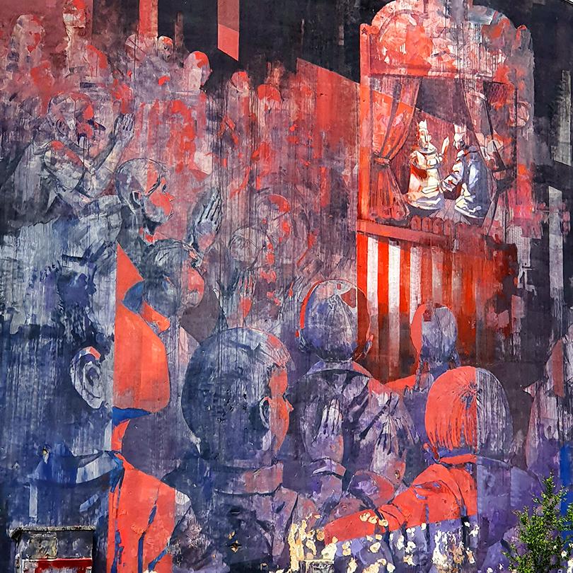 Mural Warszawa, ul. Rogowska 6, Sepe System Edukacji
