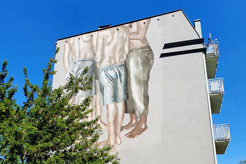 mural Łódź, ul. Cmentarna 3a, Hyuro