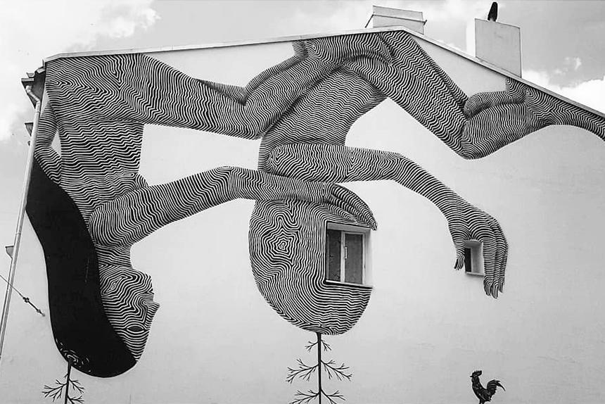 mural Łódź, ul.Legionów 41, Klone Yourself