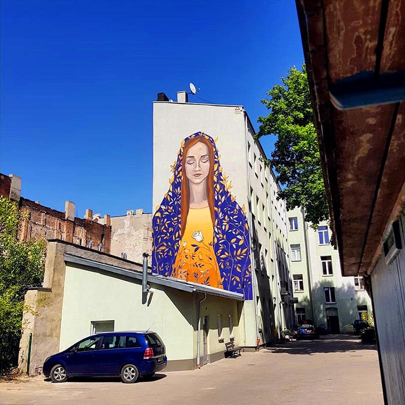 mural Łódź, ul. Wschodnia 70, Paulina Nawrot