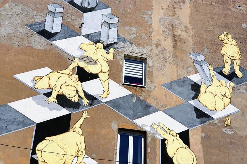 mural Łódź, ul. Próchnika 9, Sepe & Chazme