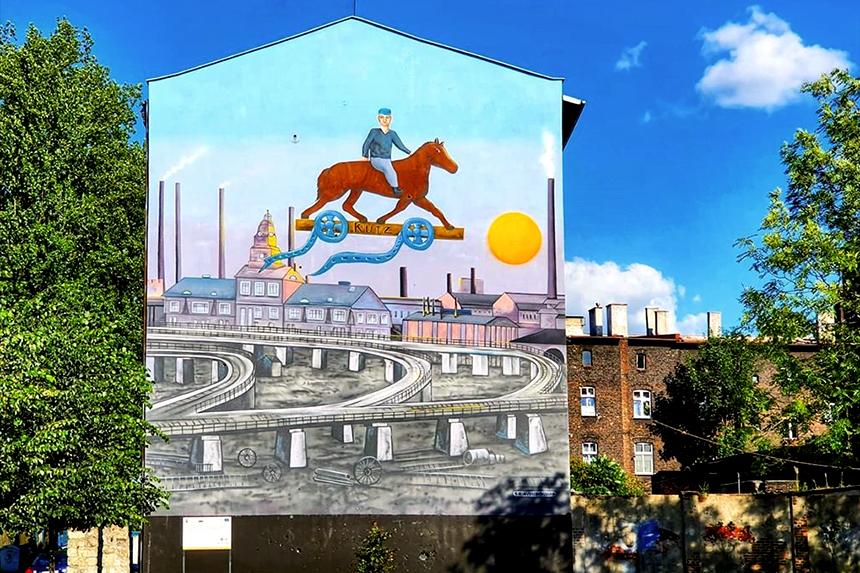 mural Kutz Katowice, ul. Wypoczynkowa 3, Erwin Sówka
