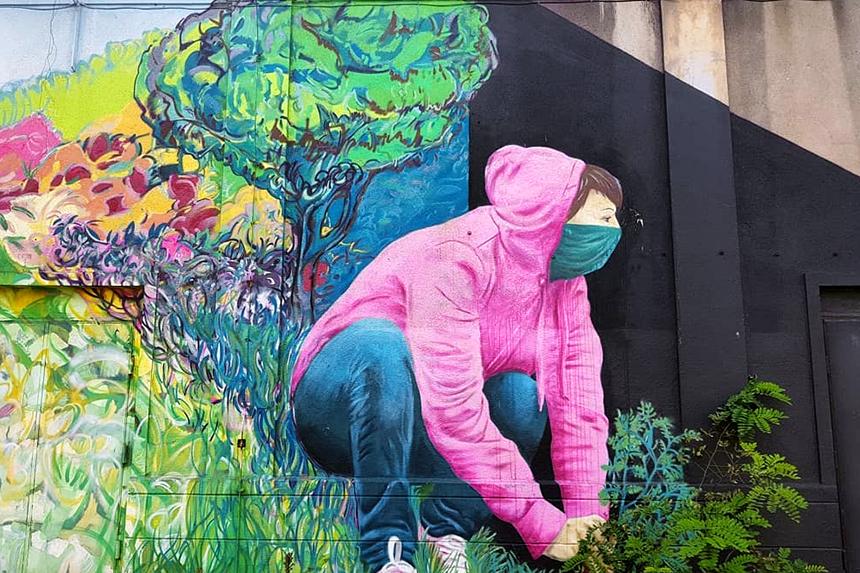 mural Katowice, ul. Wiosny Ludów 1, Marta Abramowicz & VAN
