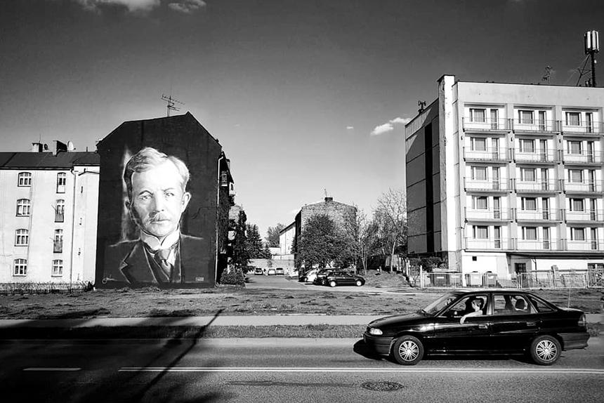 mural Korfanty Katowice, ul. Reja 6 (widok od Dudy-Gracza), Wojciech Walczyk