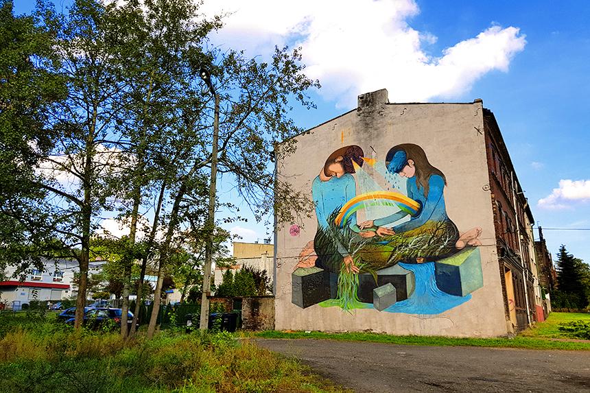 mural Katowice, ul. Siewna 9, Coxie