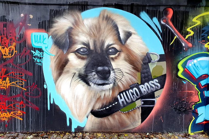 graffiti na Służewcu Hał dare you