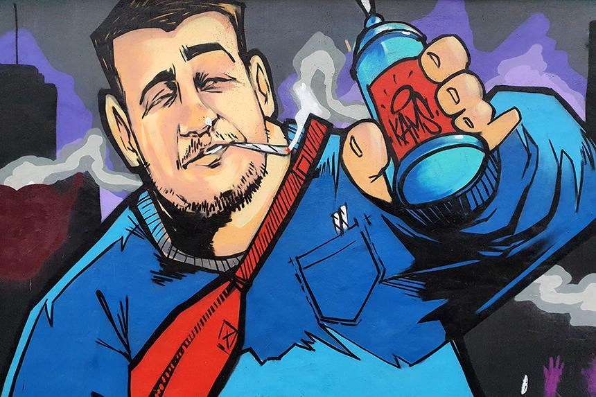 graffiti na Służewcu Tor Wyścigów Konnych w Warszawie