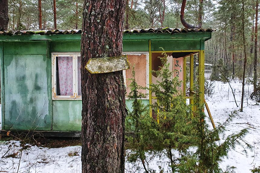 Domek letniskowy na terenie ośrodka wczasowego z PRL-u