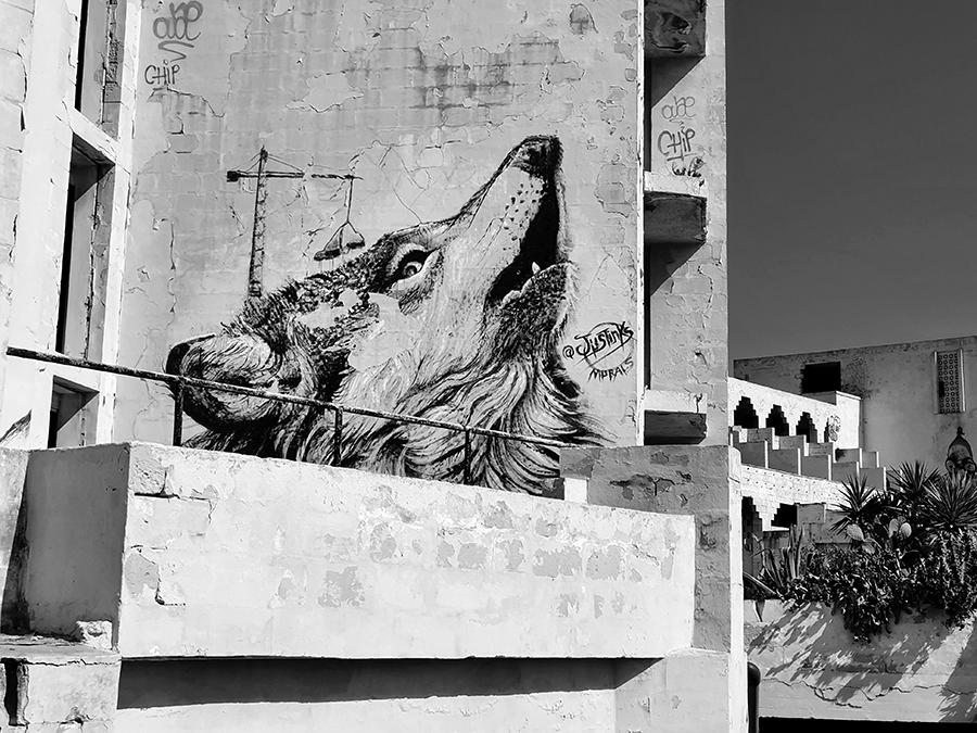 Jerma Palace, murale i street art na Malcie.